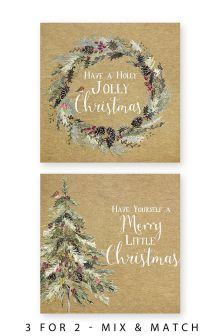 20 Wreath And Tree Cards