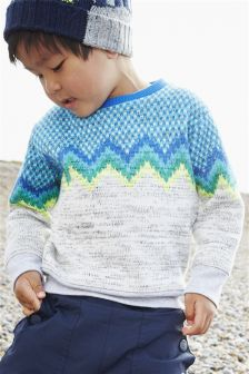 Chevron Knit Look Jumper (3mths-6yrs)