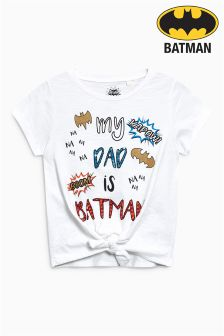 Batman® Knot Front Short Sleeve T-Shirt (3-16yrs)