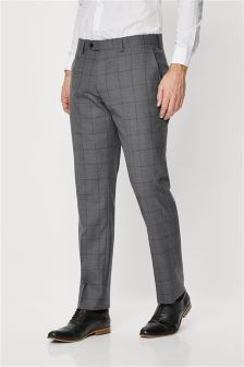 Signature Windowpane Suit: Trousers