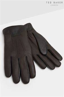 Ted Baker Colour Block Leather Gloves
