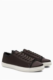 Satin Baseball Trainers