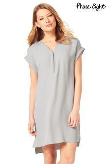 Phase Eight Grey Remi Crepe Dress