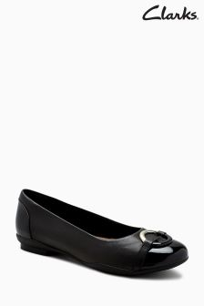 Clarks Black Neenah Ballerina Shoe