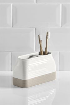 Country Luxe Ceramic Toothbrush Tidy