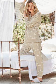 Cosy Swan Print Pyjamas
