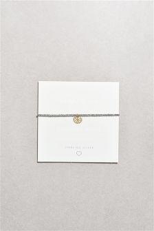 Flower Charm Beady Ball Bracelet