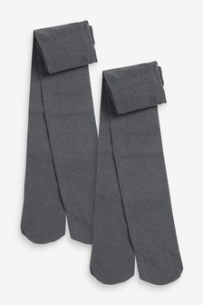 Grey 50 Denier Tights Two Pack (3-16yrs)