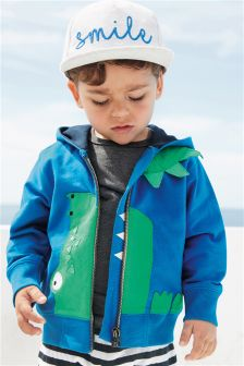Crocodile Zip Through Hoody (3mths-6yrs)