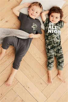 Camo Sleepsuits Two Pack (9mths-8yrs)