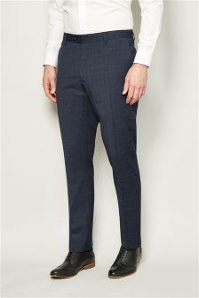 Textured Slim Fit Suit Trousers