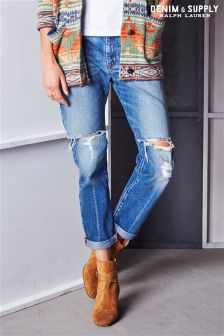 Ralph Lauren Denim And Supply Mid Wash Boyfriend Jean