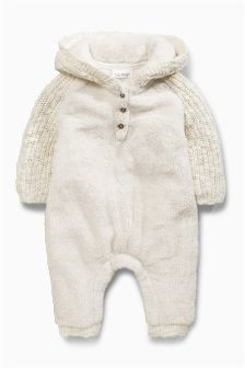 Knitted Fleece Romper (0mths-2yrs)