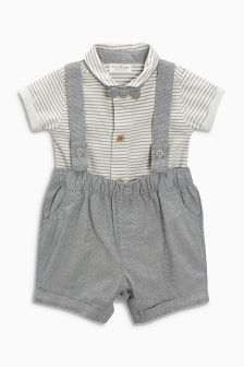 Shirt, Bow Tie And Shorts Three Piece Set (0mths-2yrs)
