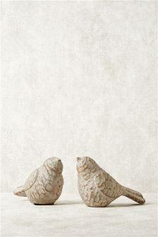 Set Of 2 Bird Sculptures