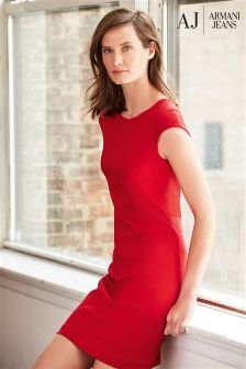 Armani Jeans Red Shift Dress