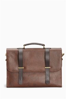 Signature Leather Briefcase