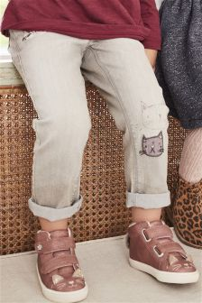 Cat Embellished Jeans (3mths-6yrs)