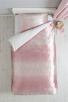 Pink Velvet Bed Set