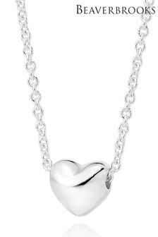 Beaverbrooks Silver Petite Heart Necklace