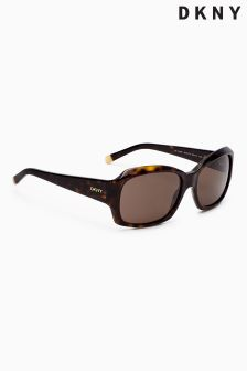 DKNY Tortoiseshell Wrap Around Square Sunglasses