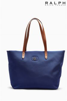 Ralph Lauren Blue Fabric Shopper Bag