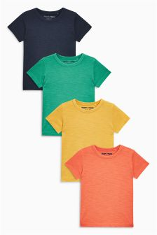 Short Sleeve Havana T-Shirts Four Pack (3mths-6yrs)