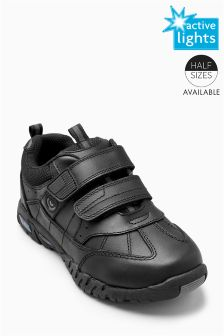 Light Up Double Strap Trainers (Older Boys)