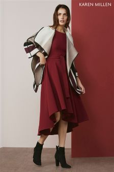 Karen Millen Burgundy Fluid Midi Dress