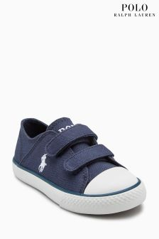 Polo Ralph Lauren Navy Darian Ez Canvas Velcro Trainer