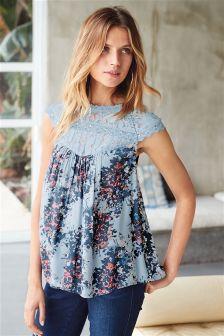 Floral Sleeveless Lace Top