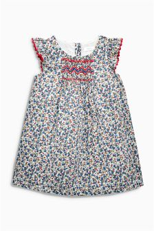 Ditsy Print Dress With Smocking Detail (3mths-6yrs)