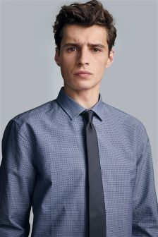 Printed Shirt And Tie Set