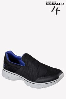 Skechers® Black/Blue Go Walk 4