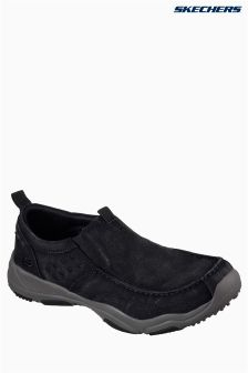 Skechers® Black Larson Canvas Slip-On Shoe