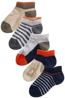 Colour Block Trainer Sock Five Pack (Younger Boys)