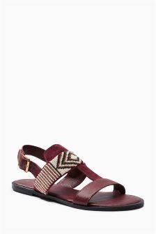 Aztec Beaded Sandals