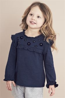 Long Sleeve Corsage Blouse (3mths-6yrs)