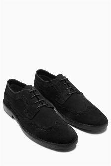 Suede Brogue Desert Shoe