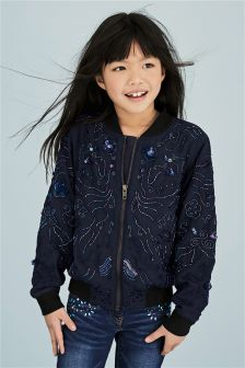 Beaded Bomber Jacket (3-16yrs)