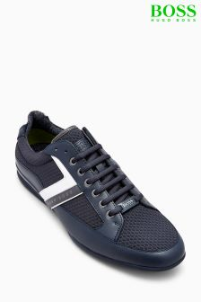 Boss Green Dark Blue Space Low Pro Neem Trainer
