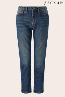 Jigsaw Indigo Compton Straight Leg Crop Jean