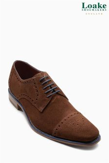 Loake Brown Suede Foley Toe Cap Brogue