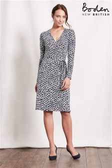 Boden Blue Wrap Dress