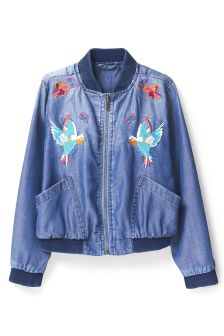 Embroidered Tencel® Bomber Jacket (3-16yrs)