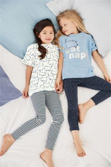 Cat Nap Legging Pyjamas Two Pack (3-16yrs)