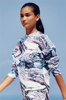 Printed Scuba Sweat Top