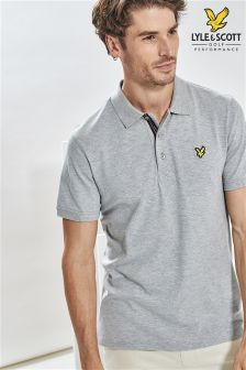 Lyle & Scott Golf Grey Marl Kelso Polo