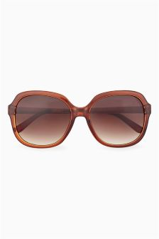 Etched Arm Detail Sunglasses