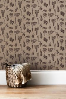 Paste The Wall Vegetable Print Wallpaper